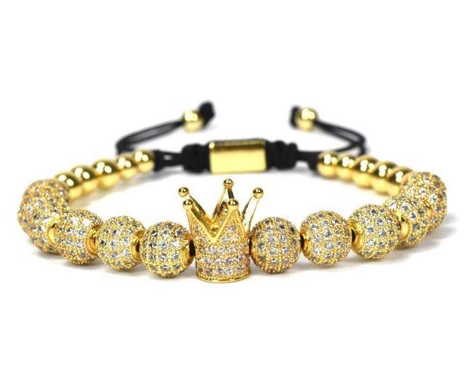 Brooks Zircon Gold Crown White Zircon GOLD