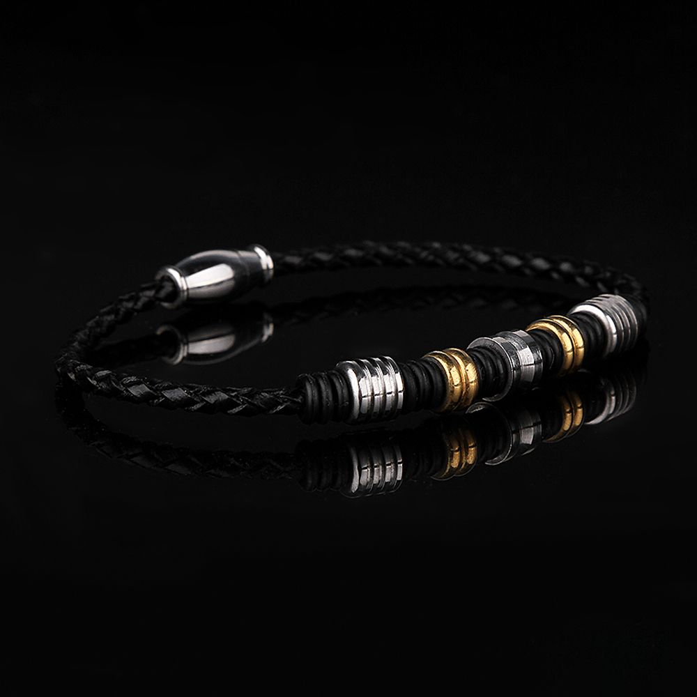 Exquisite Men Leather Bracelet