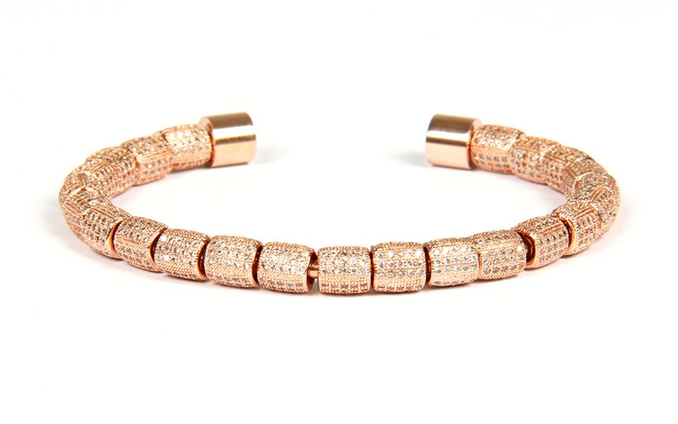 Luxury Rose Gold Brooks Bangle