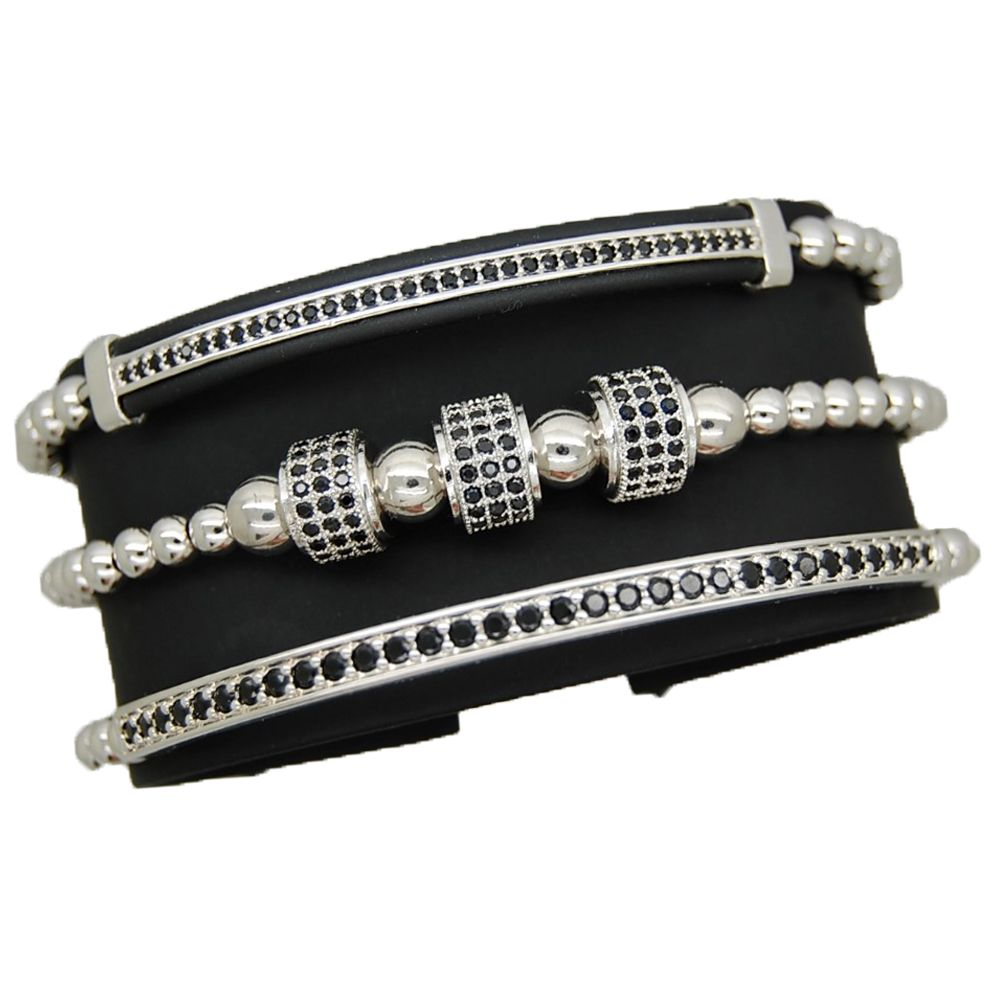 Luxury Set 3 Brooks Silver Bracelets