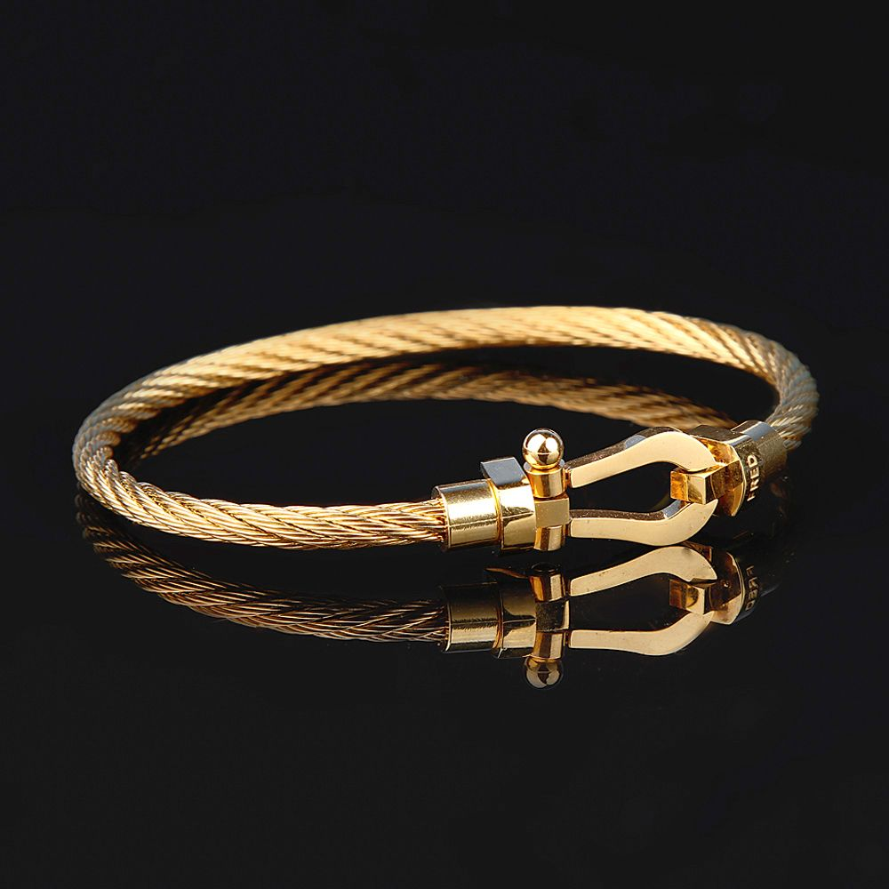Men Gold Anchor Bracelet 20 CM