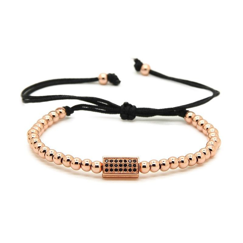 Rose Gold Cubic Zirconia Men Bracelet