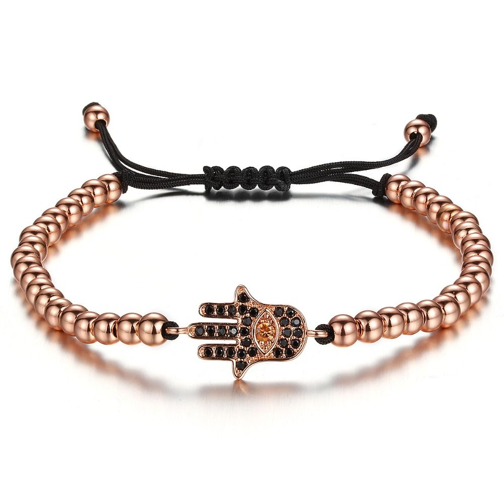 Brooks Rose Gold Men Fatima Hand Bracelet