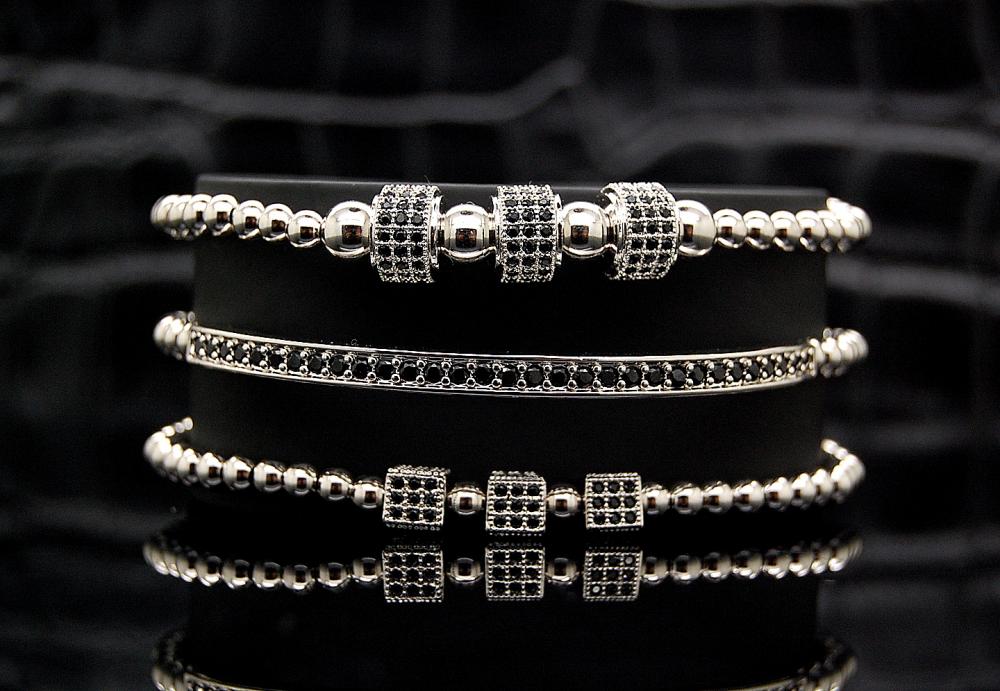 Brooks Silver Set 3 Luxury Bracelets