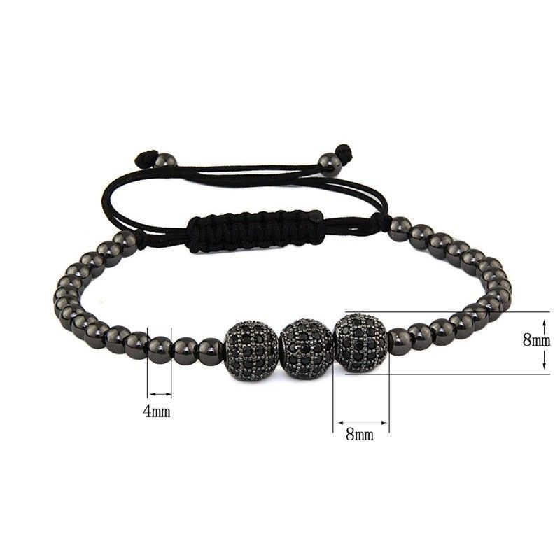 Black Zircon Women Bracelet