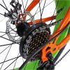 Bicicleta Fat Bike VELORS, V2019B, cadru otel, culoare portocaliu / verde