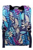 Rucsac pentru femei, cu print tropical, portofel si penar, albatru E1742 NY
