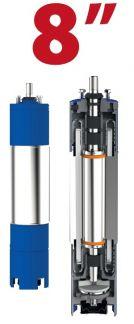 Motor submersibil de 8`` 400V  75 kw