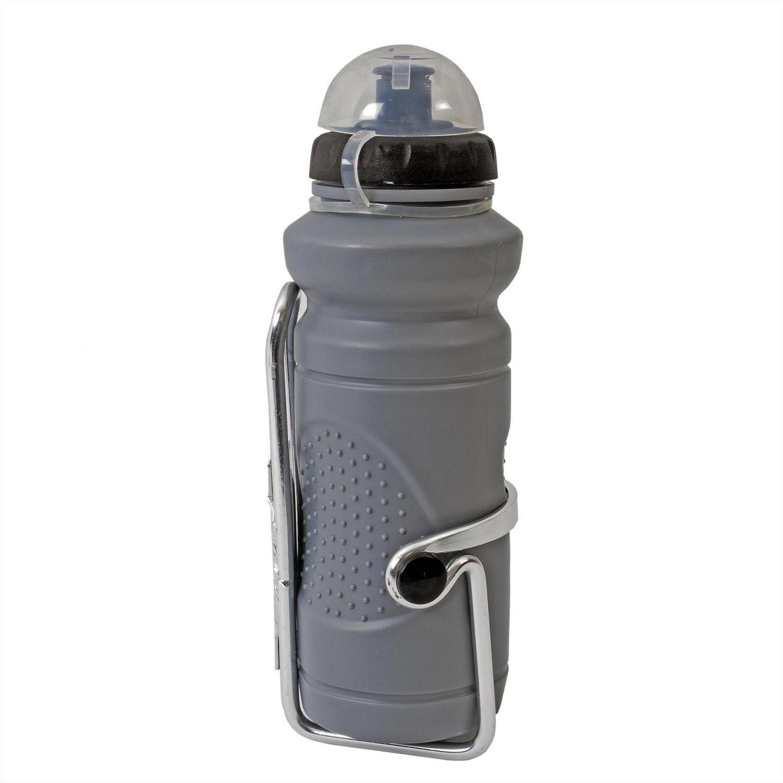 Bidonas apa 500 ml cu suport aluminiu, culoare gri 016A+350C RT-190001