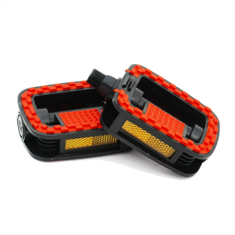 Pedale plastic negru / rosu 480004
