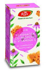 Comprimate Echinacea cu Propolis si Vitamina C 63cpr - Fares