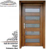 Uşă de exterior Lemn Stratificat STEJAR - Culoare NUC
