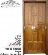 Uşă de exterior Lemn Stratificat STEJAR - Culoare LAC INCOLOR