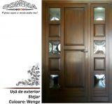 Uşă de exterior Lemn Stratificat STEJAR - Culoare WENGE