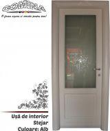Uşă de interior Lemn Stratificat STEJAR - Culoare ALB