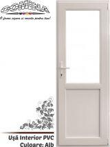 Uşă Interior PVC - Culoare ALB