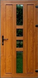 Uşă PVC Exterior + Culoare Stejar Auriu