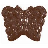 Decor Fluturi Ø 3.6cm - Matrita Plastic Ciocolata