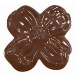Decor Flori Ø 3.7cm - Matrita Plastic Ciocolata