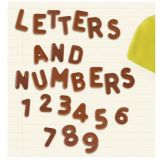 Matrita decoruri ciocolata Alfabet si Cifre