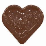 Decor / Plachete Inimioare Ø 8cm - Matrita Plastic Ciocolata