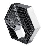Rama Inox Hexagon 14x16xH5cm