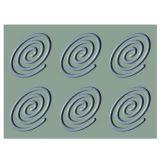 Forma Silicon Gourmand Spirala Oval 13.8x9.5xH0.6cm, 6 cavitati