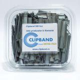 Caserola Clipband Argintiu 0.6 mm-11cm-500 buc