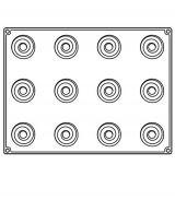 Forma Silicon Bachour, Monoportii Over, 12 cavitati