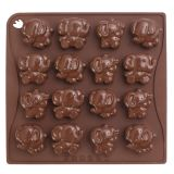 Forma Silicon Chocoice Elefanti, 16 cavitati