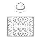 Forma Silicon Grolet Monoportii Citron, 20 cavitati