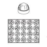 Aluna/Nuca Cocos, Ø6xh3.5cm - Forma Silicon Monoportii Grolet, 20 cavitati