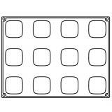 Forma Silicon Mister, Monoportii 5.8x5.8xh3.3cm, 12 cavitati