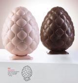 Oua 3D h 15.5 cm - Set 2 Matrite Plastic Ciocolata