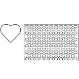 Placa decupare aluat/decor inima Ø4 cm