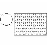 Placa decupare aluat/decor rotund Ø5.3 cm