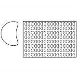Placa decupare aluat/decor semiluna Ø4 cm