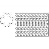 Placa decupare aluat/decor trifoi Ø4 cm