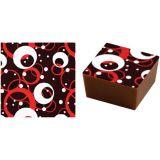 Set 15 Folii Transfer 40x25cm - Decor Ciocolata Rosu/Alb