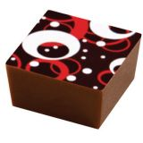 Set 15 Folii Transfer Decor Ciocolata Rosu/Alb, 40x25cm