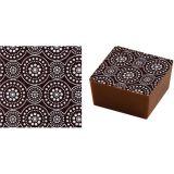 Set 20 Folii Transfer 40x25cm - Decor Ciocolata Alb