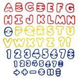 Set 50 Decupatoare plastic litere si numere