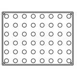 Sfere Ø 2cm - Forma Silicon 30x40cm, 48 cavitati