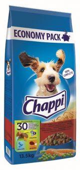 Hrana pentru caini Chappi adult uscat vita-pasare si legume 13,5kg