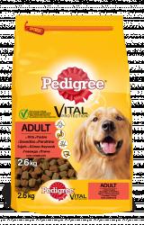 Hrana pentru caini Pedigree adult vita si pasare 2.6kg