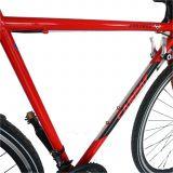 Bicicleta Road CARPAT Mustang, cadru otel, culoare rosu/negru