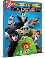 Hotel Transilvania 1, 2, 3: Colectie de 3 filme pe DVD / Hotel Transylvania 1, 2, 3 Movie DVD Collection