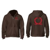 GOD OF WAR SERPENT LOGO ZIPPER HOODIE M