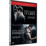 Pachet Cincizeci de umbre ale lui Grey + Cincizeci de umbre intunecate / Fifty Shades of Grey + Fifty Shades Darker - (2 filme DVD)