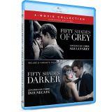 Pachet Cincizeci de umbre ale lui Grey + Cincizeci de umbre intunecate / Fifty Shades of Grey + Fifty Shades Darker  - (2 filme BLU-RAY)